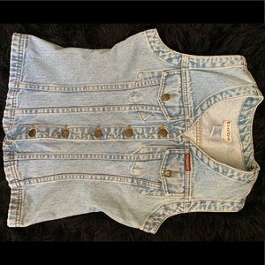 BEBE Blue Denim Vest